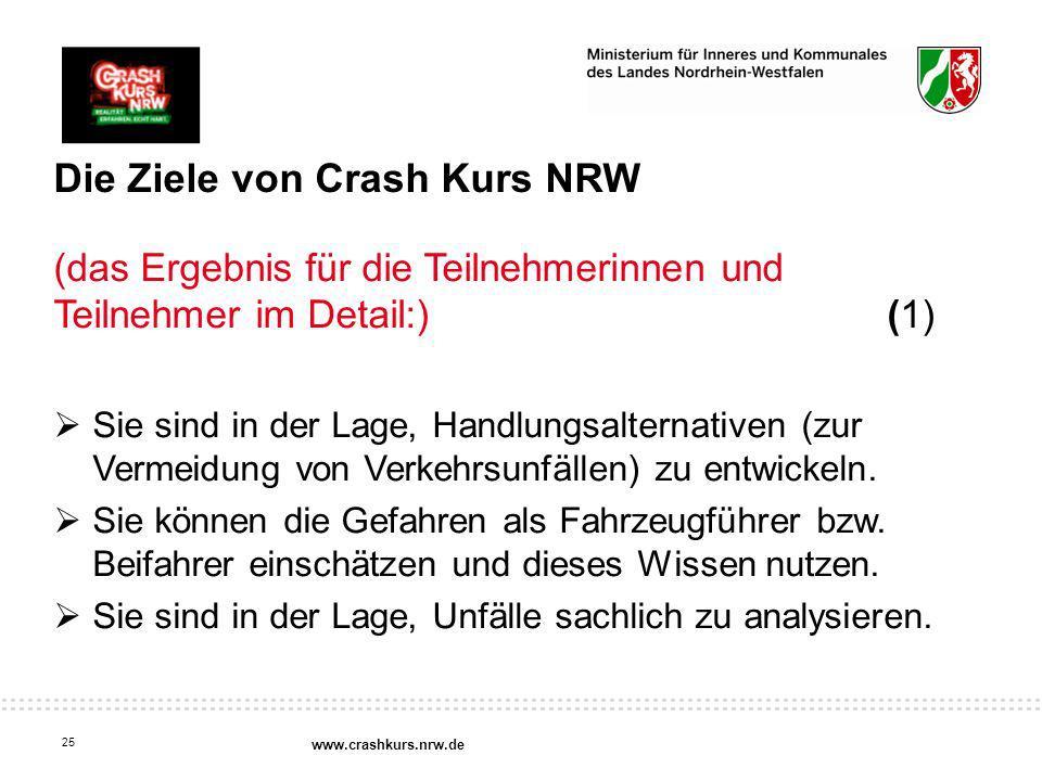 Die Ziele von Crash Kurs NRW