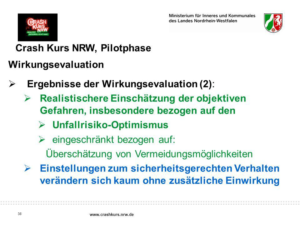 Crash Kurs NRW, Pilotphase