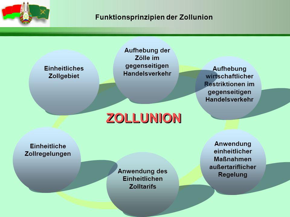 Funktionsprinzipien der Zollunion