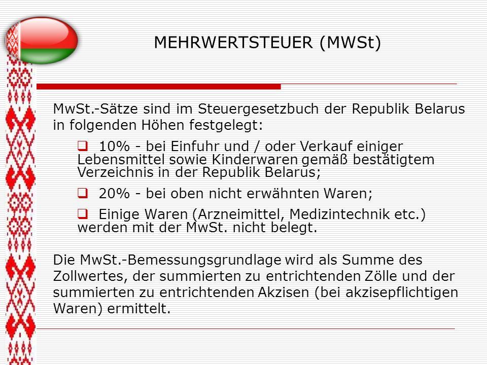 MEHRWERTSTEUER (MWSt)