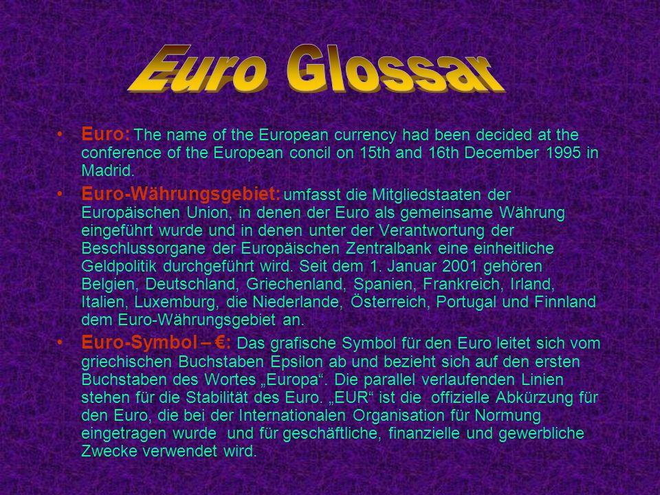 Euro Glossar