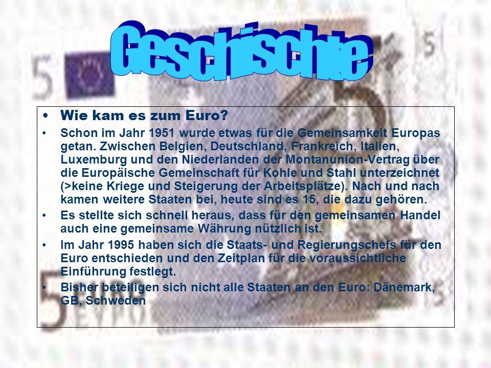 Geschischte Wie kam es zum Euro
