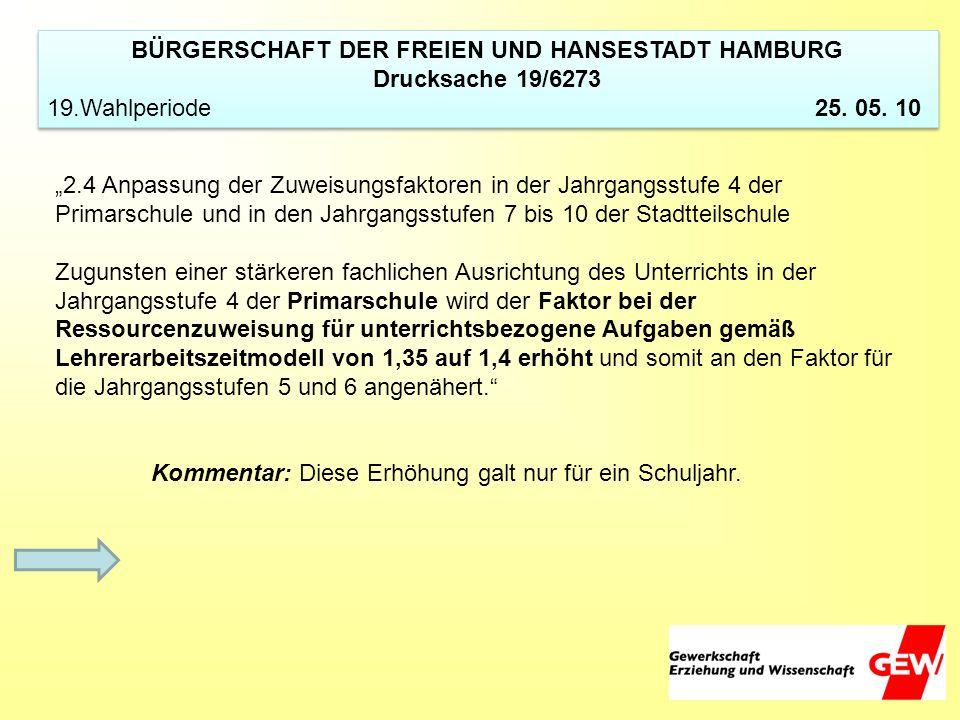 BÜRGERSCHAFT DER FREIEN UND HANSESTADT HAMBURG