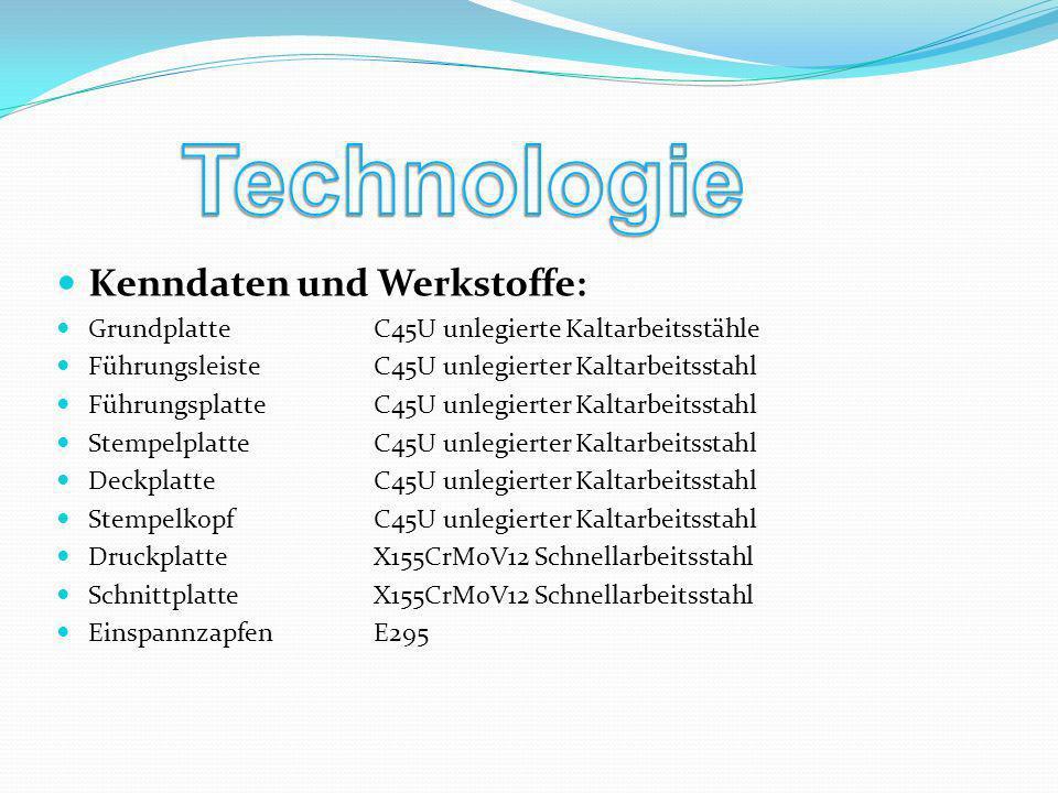 Technologie Kenndaten und Werkstoffe: