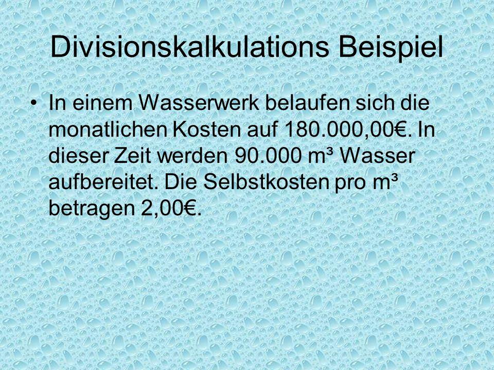 Divisionskalkulations Beispiel
