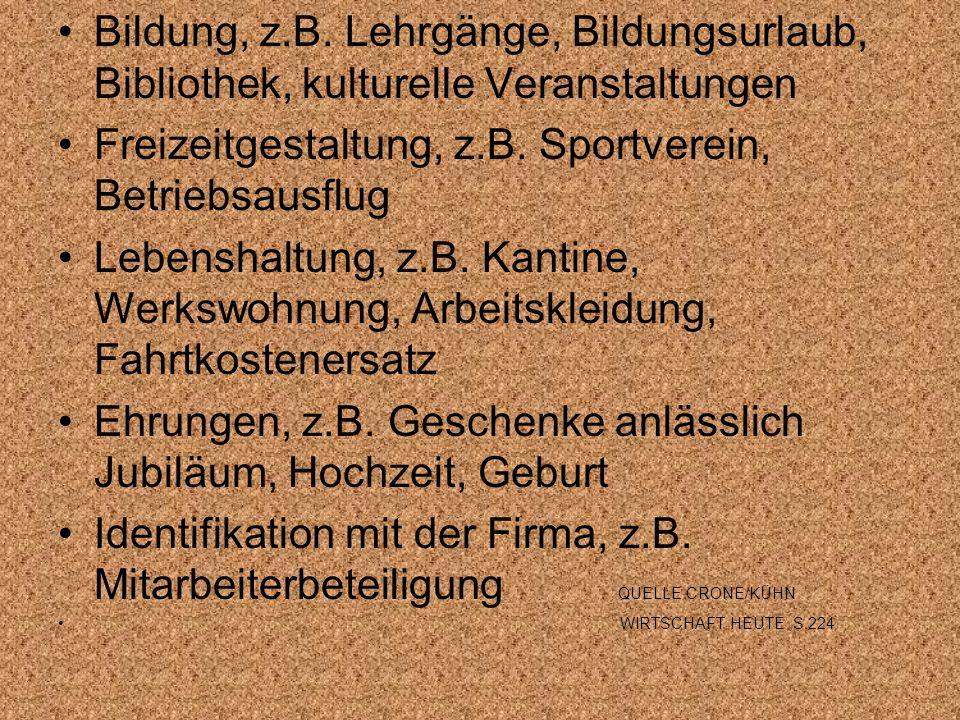 Freizeitgestaltung, z.B. Sportverein, Betriebsausflug