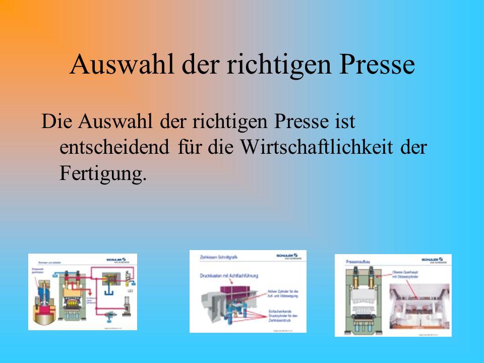 Auswahl der richtigen Presse