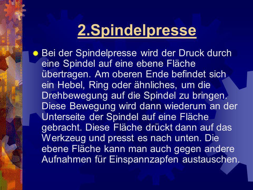 2.Spindelpresse