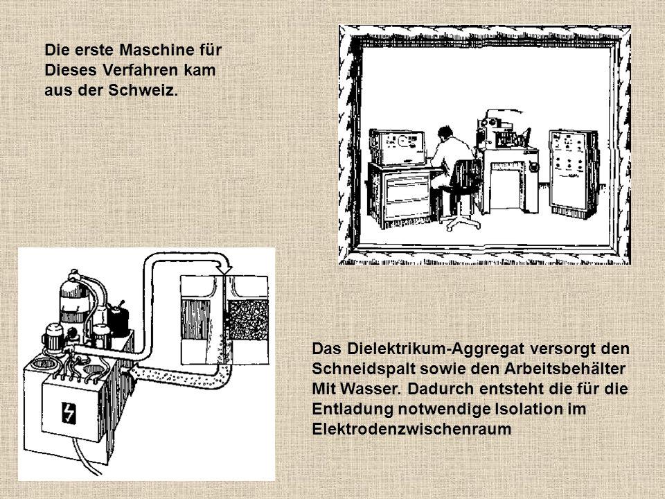 Die erste Maschine für Dieses Verfahren kam. aus der Schweiz. Das Dielektrikum-Aggregat versorgt den.