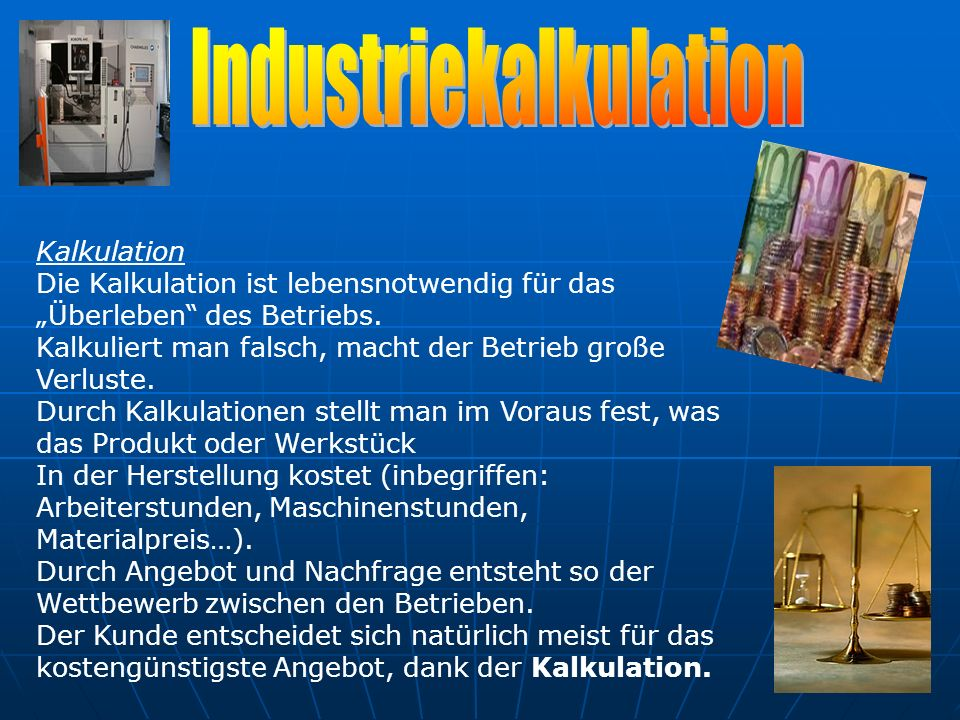 Industriekalkulation
