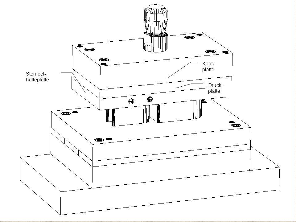 Kopf-platte Druck-platte Stempel-halteplatte