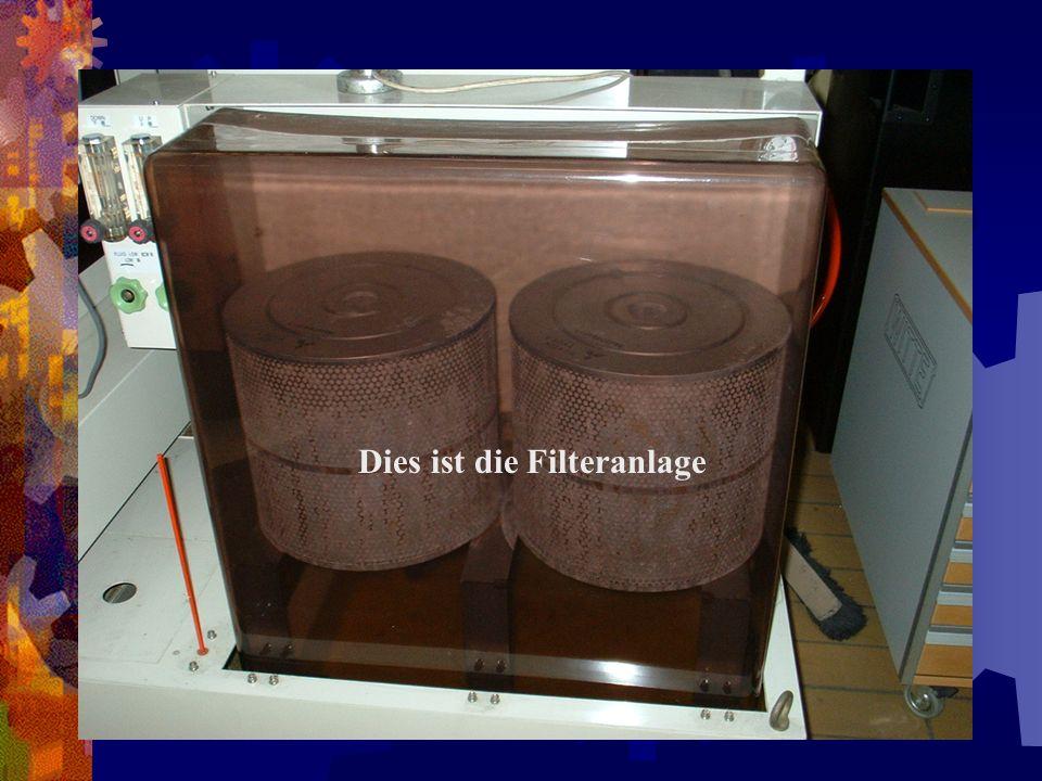 Dies ist die Filteranlage
