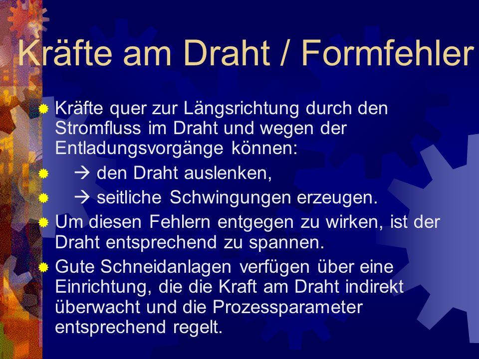 Kräfte am Draht / Formfehler