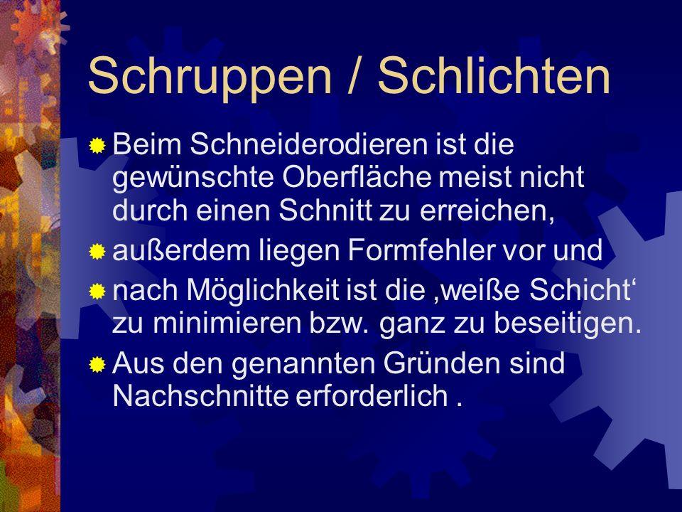 Schruppen / Schlichten