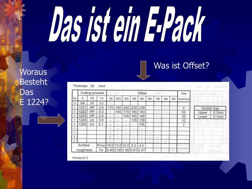 Das ist ein E-Pack Was ist Offset Woraus Besteht Das E 1224