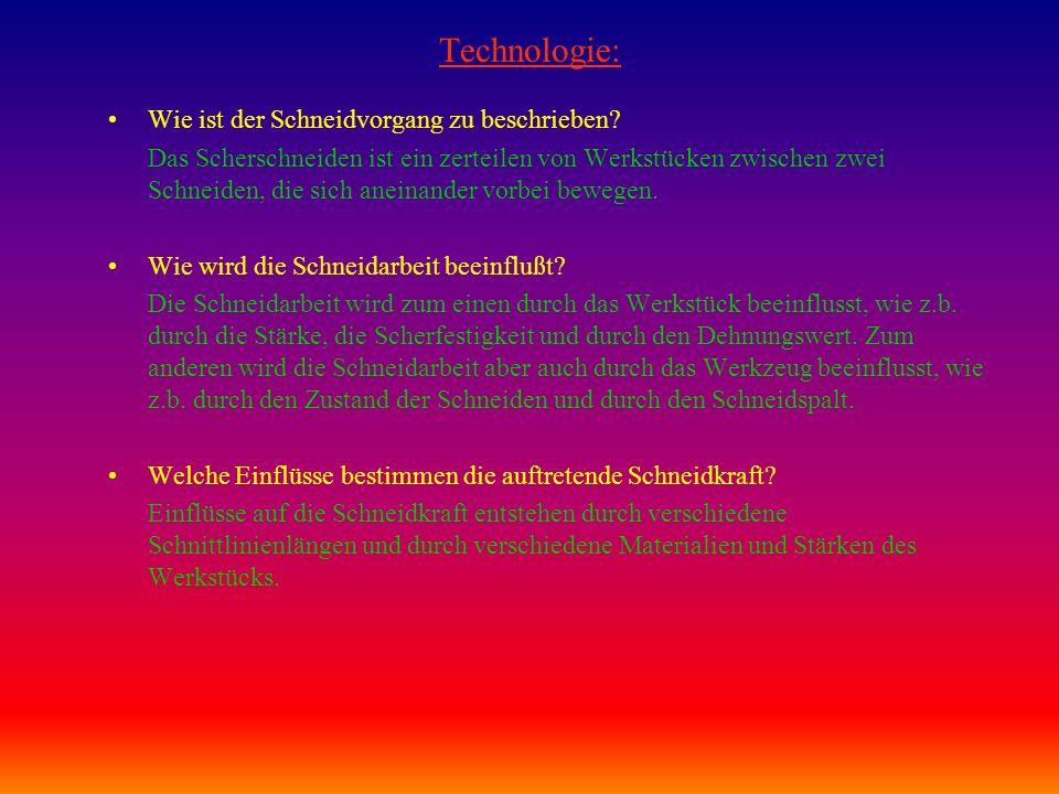 Technologie: Wie ist der Schneidvorgang zu beschrieben