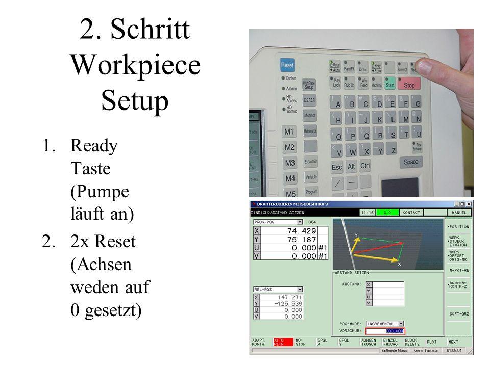 2. Schritt Workpiece Setup