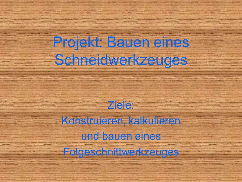 Projekt: Bauen eines Schneidwerkzeuges