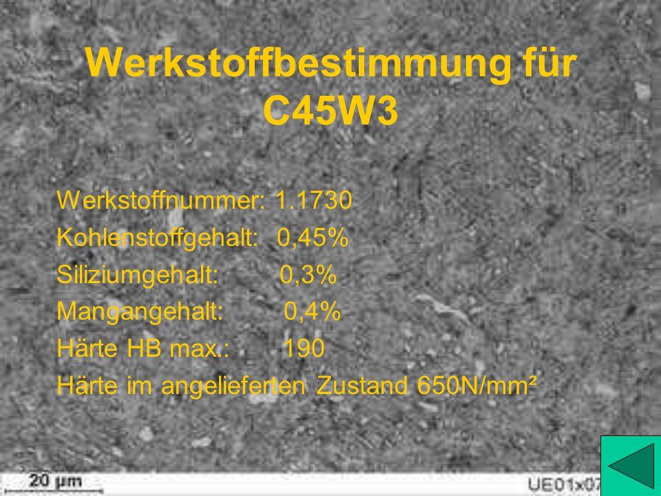 Werkstoffbestimmung für C45W3