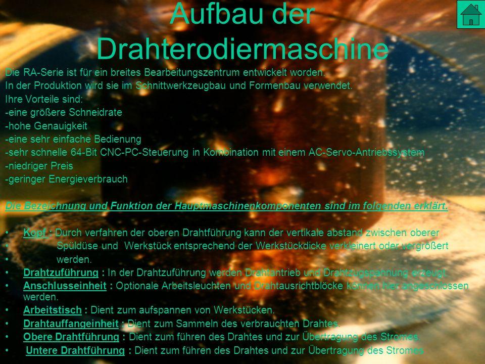Aufbau der Drahterodiermaschine