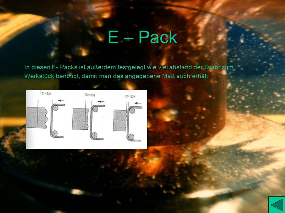 E – Pack In diesen E- Packs ist außerdem festgelegt wie viel abstand der Draht zum.