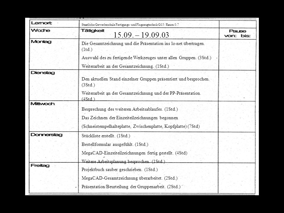 15.09. – 19.09.03 Nikolai Andreev, Gruppe 1