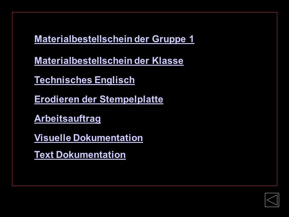 Materialbestellschein der Gruppe 1