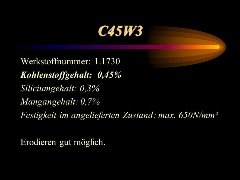C45W3 Werkstoffnummer: 1.1730 Kohlenstoffgehalt: 0,45%
