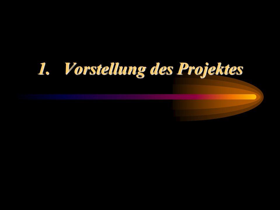 1. Vorstellung des Projektes