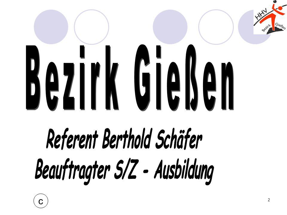 Referent Berthold Schäfer Beauftragter S/Z - Ausbildung