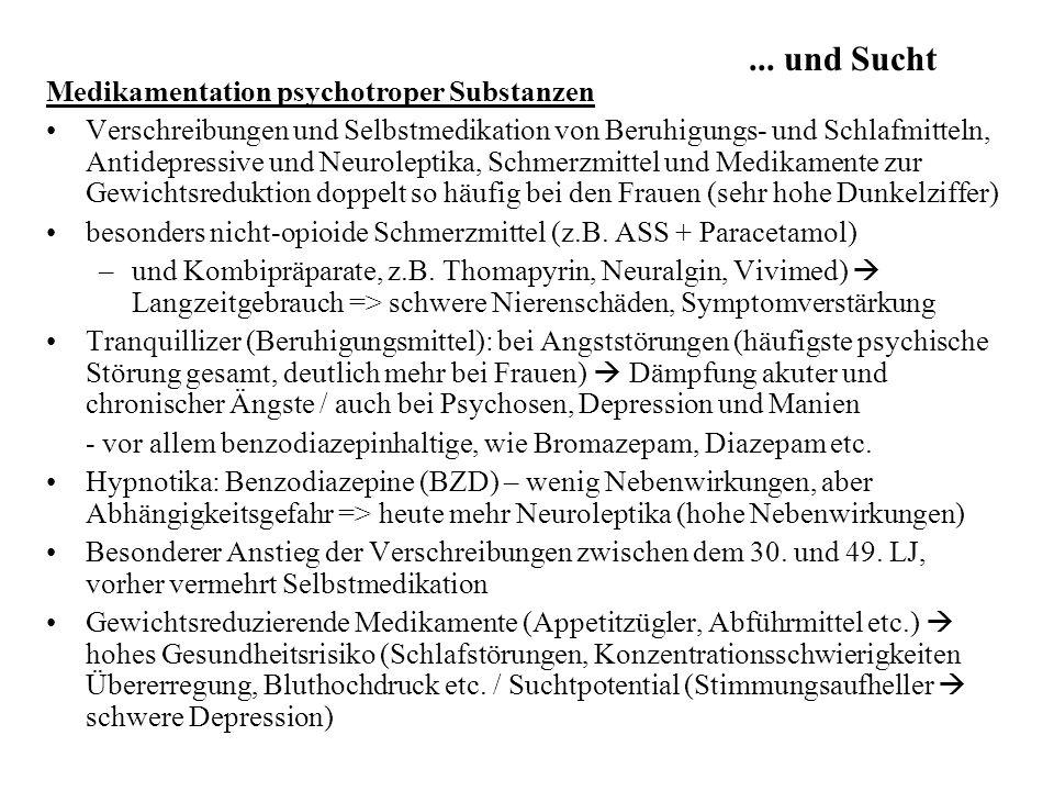 ... und Sucht Medikamentation psychotroper Substanzen