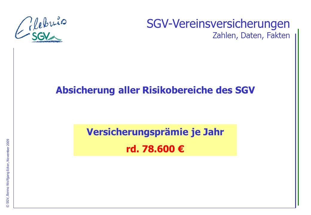 Absicherung aller Risikobereiche des SGV Versicherungsprämie je Jahr