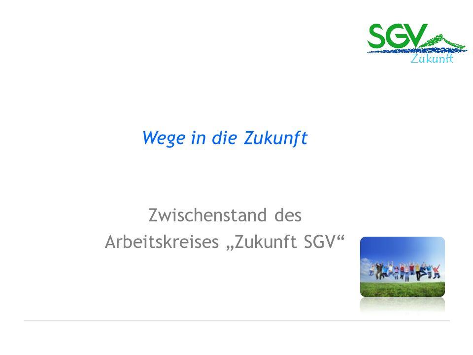 """Zwischenstand des Arbeitskreises """"Zukunft SGV"""