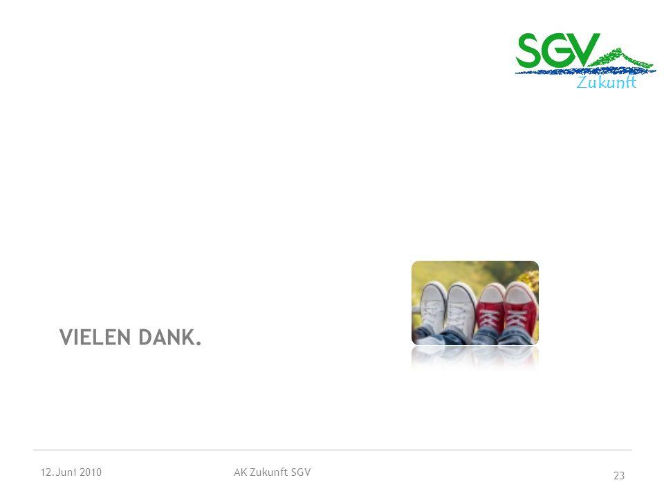 Vielen Dank. 12.Juni 2010 AK Zukunft SGV