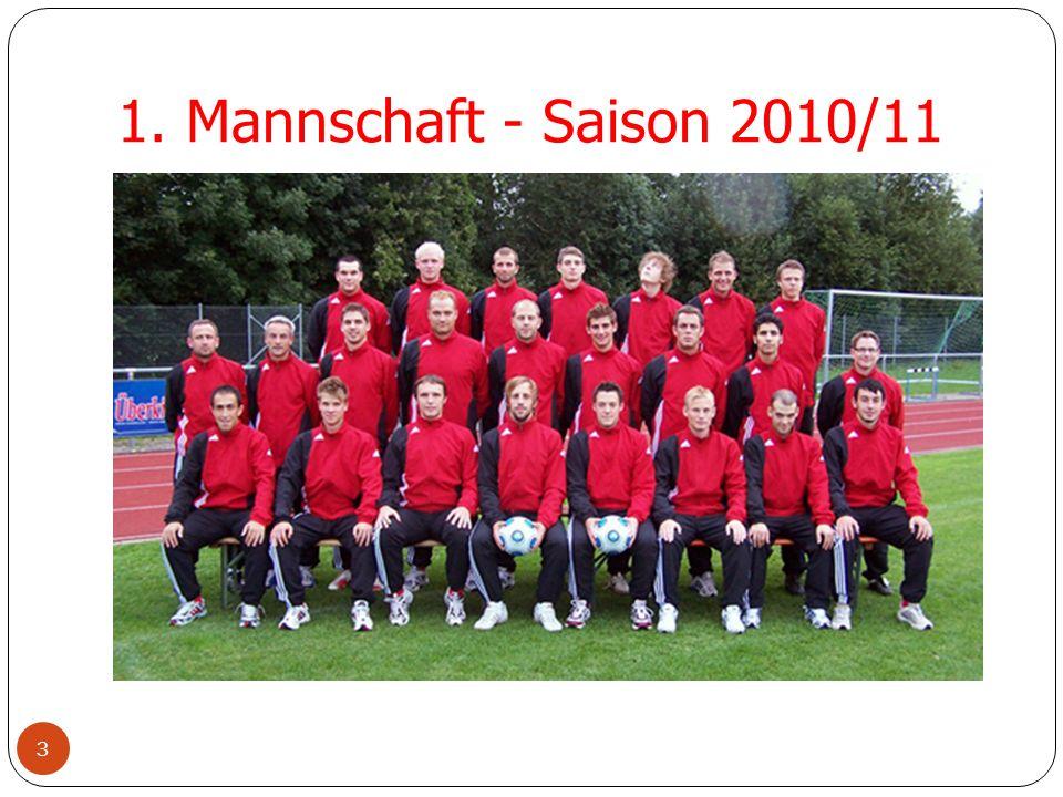 1. Mannschaft - Saison 2010/11