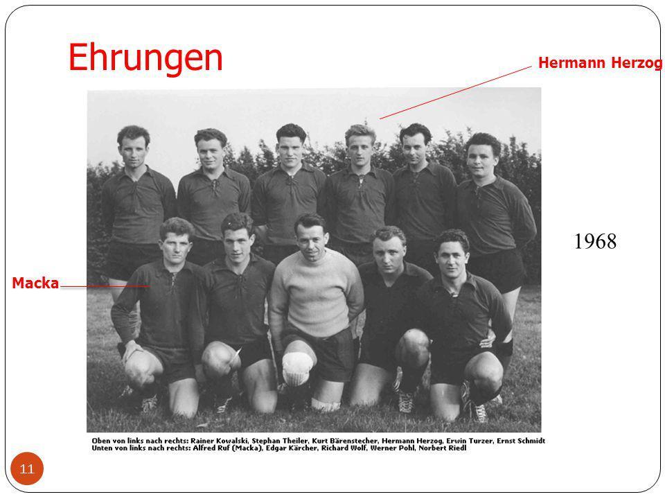 Ehrungen Hermann Herzog 1968 Macka