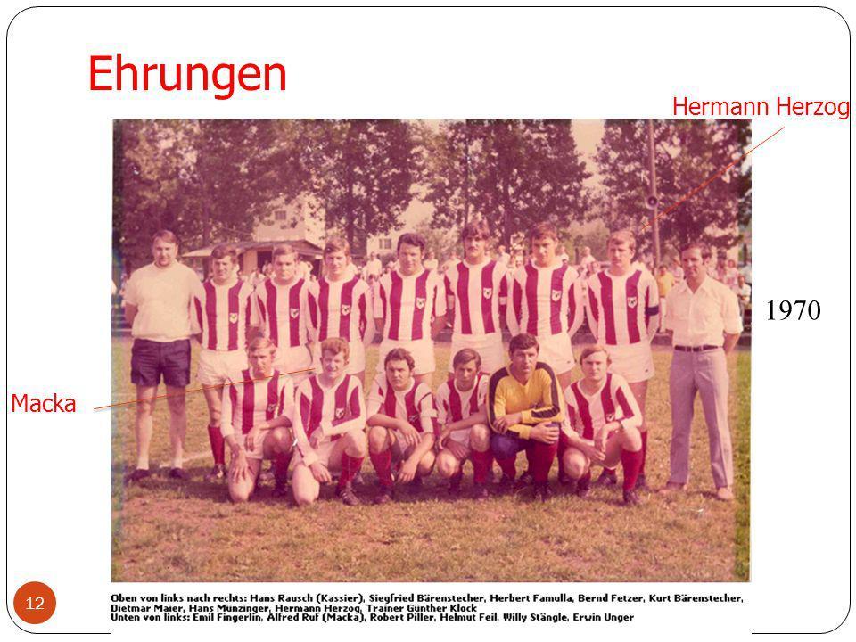 Ehrungen Hermann Herzog 1970 Macka