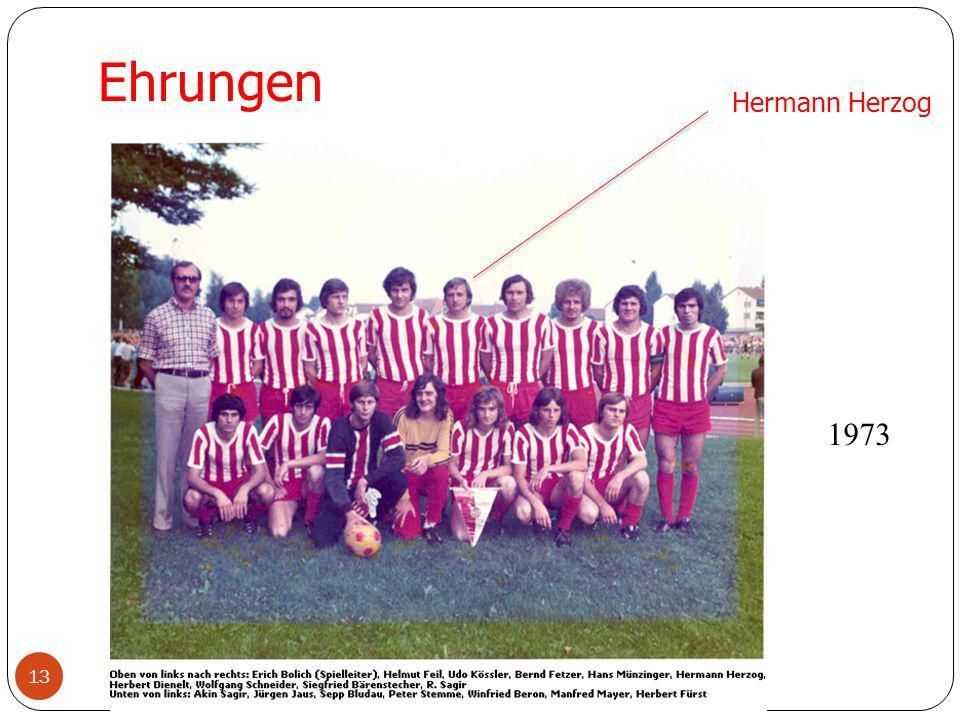 Ehrungen Hermann Herzog 1973