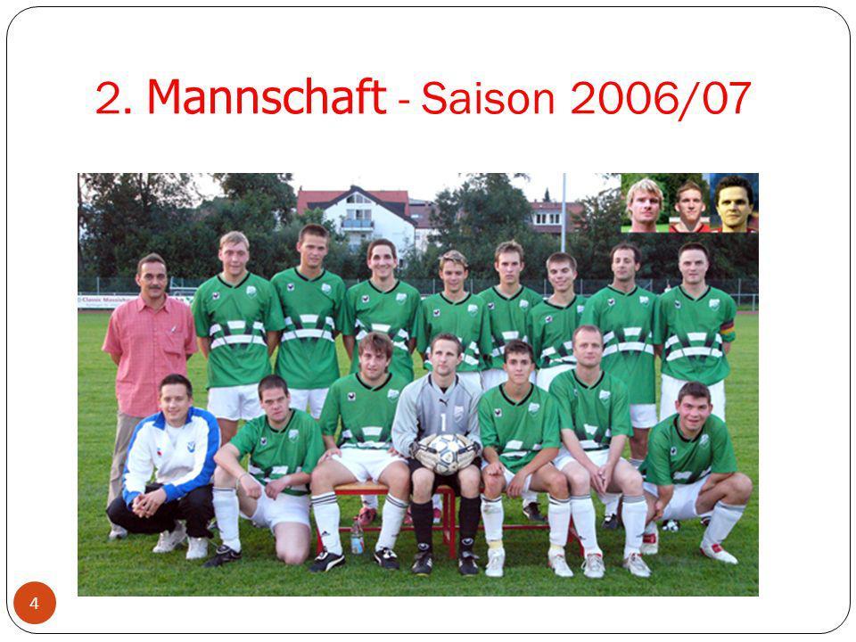 2. Mannschaft - Saison 2006/07 Neuzugänge 2002/03