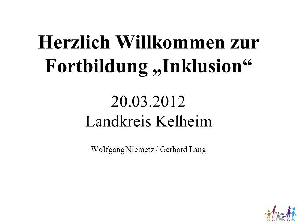 """Herzlich Willkommen zur Fortbildung """"Inklusion 20. 03"""
