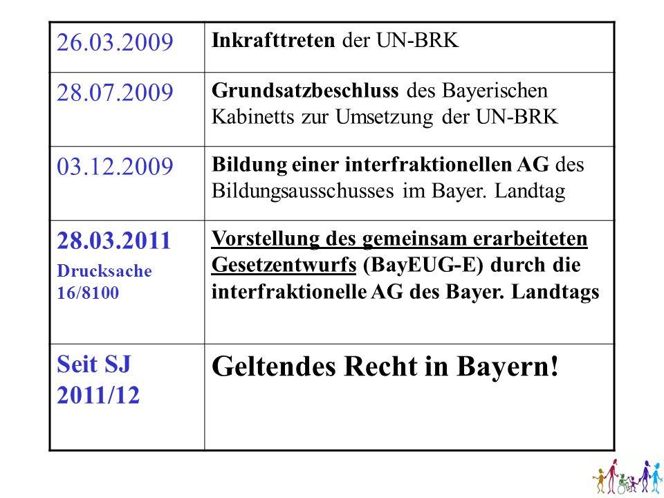 Geltendes Recht in Bayern!