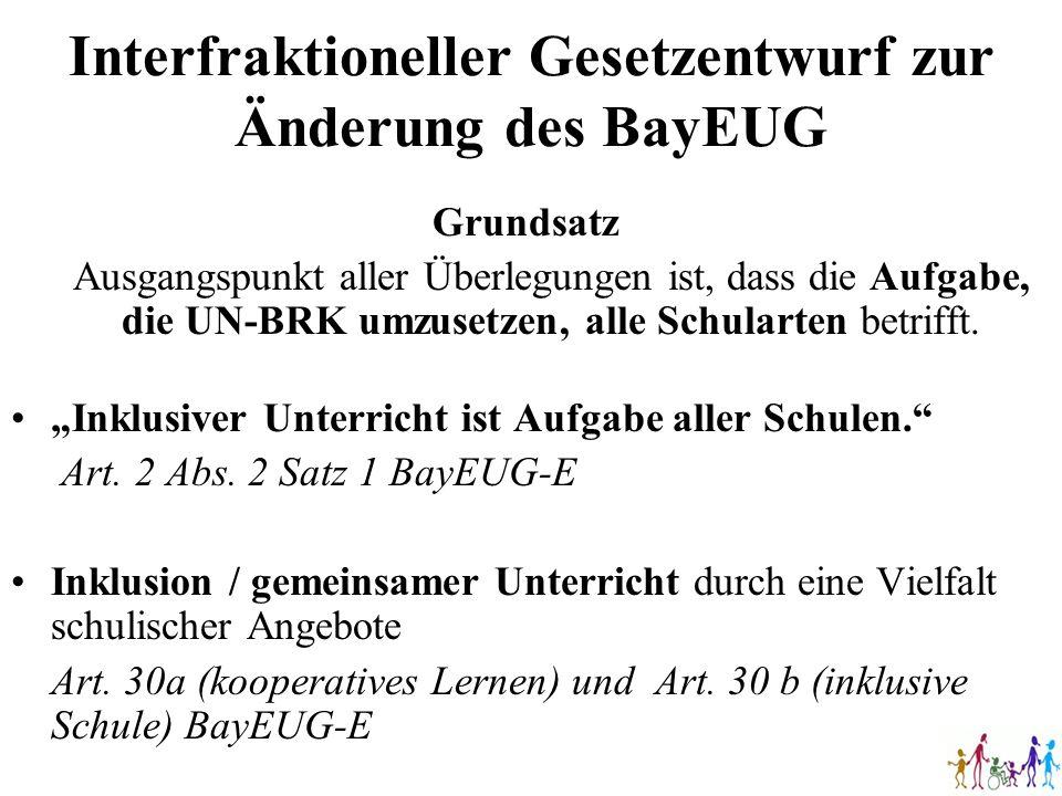Interfraktioneller Gesetzentwurf zur Änderung des BayEUG