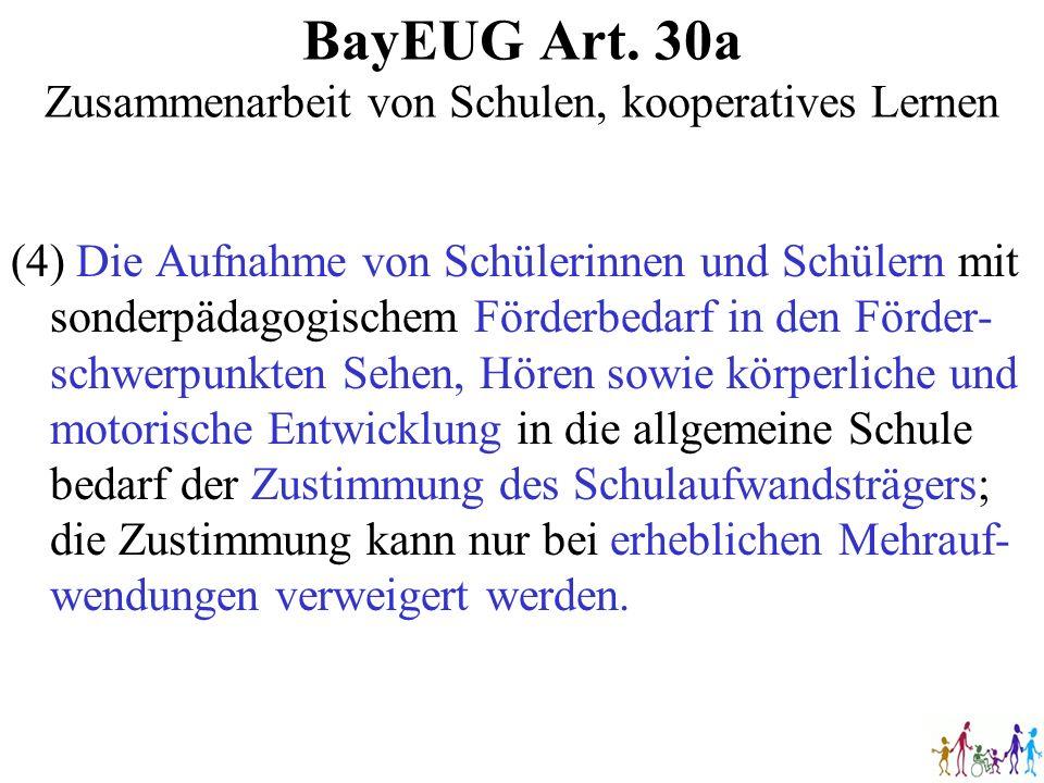 BayEUG Art. 30a Zusammenarbeit von Schulen, kooperatives Lernen