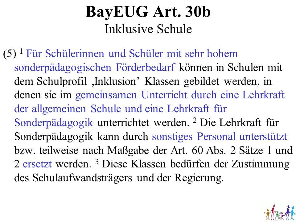 BayEUG Art. 30b Inklusive Schule