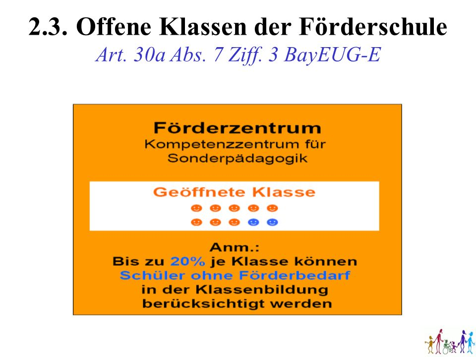 2.3. Offene Klassen der Förderschule Art. 30a Abs. 7 Ziff. 3 BayEUG-E