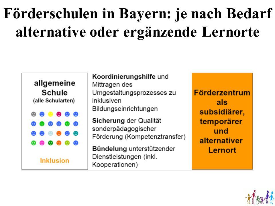 Förderschulen in Bayern: je nach Bedarf alternative oder ergänzende Lernorte