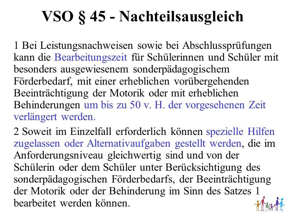 VSO § 45 - Nachteilsausgleich