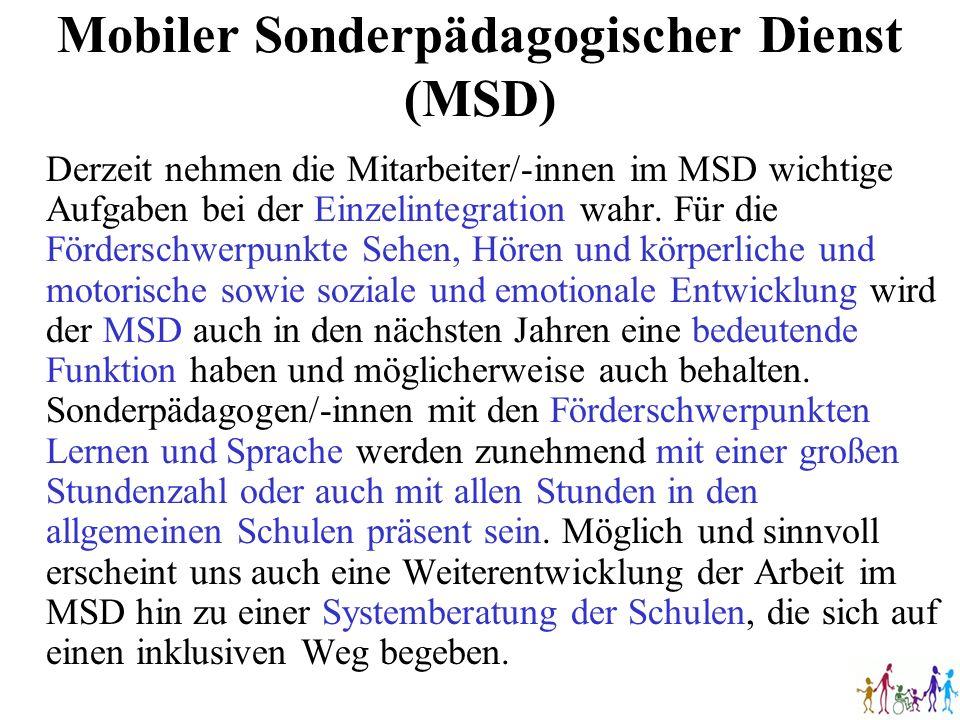 Mobiler Sonderpädagogischer Dienst (MSD)