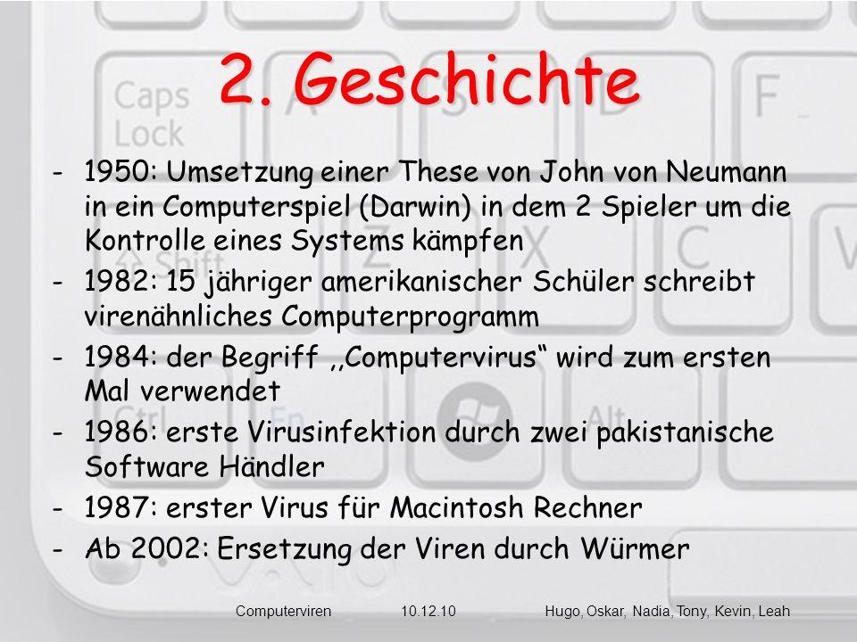 Computerviren 10.12.10 Hugo, Oskar, Nadia, Tony, Kevin, Leah