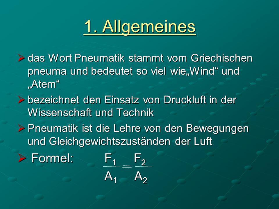 1. Allgemeines Formel: F1 F2 A1 A2
